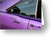 1970 Dodge Super Bee Rear Quarter Panel Greeting Cards - 1969 Dodge Dart Swinger Greeting Card by Gordon Dean II