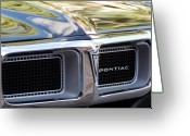Firebird Greeting Cards - 1969 Pontiac Firebird 400 Grille Greeting Card by Jill Reger