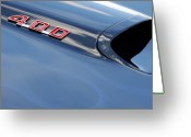 Firebird Greeting Cards - 1969 Pontiac Firebird 400 Hood Greeting Card by Jill Reger