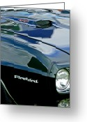 Firebird Greeting Cards - 1969 Pontiac Firebird Emblem Greeting Card by Jill Reger