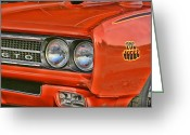Drag Greeting Cards - 1969 Pontiac GTO The Judge Greeting Card by Gordon Dean II