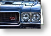 Detroit Photography Greeting Cards - 1970 Buick GS 455 Greeting Card by Gordon Dean II