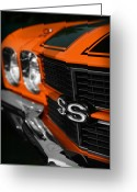 Ss396 Greeting Cards - 1970 Chevelle SS396 SS 396 Orange Greeting Card by Gordon Dean II