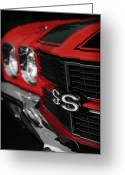 Ss396 Greeting Cards - 1970 Chevelle SS396 SS 396 Red Greeting Card by Gordon Dean II