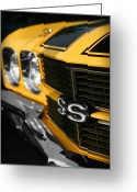 Ss396 Greeting Cards - 1970 Chevelle SS396 SS 396 Yellow Greeting Card by Gordon Dean II