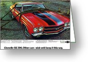 Ss396 Greeting Cards - 1970 Chevrolet Chevelle SS 396 Greeting Card by Digital Repro Depot