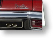 Chevrolet Chevelle Greeting Cards - 1970 Chevrolet Chevelle SS Emblem Greeting Card by Jill Reger