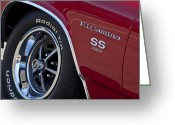 1970 Greeting Cards - 1970 Chevrolet el Camino SS 454 CI Wheel Emblem Greeting Card by Jill Reger