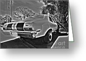 Street Rods Greeting Cards - 1970 Chevrolet Nova Greeting Card by Cheryl Young