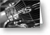 Ss396 Greeting Cards - 1970 Chevy Chevelle SS 396 Black and White Greeting Card by Gordon Dean II