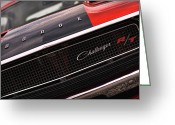Muscle Cars Greeting Cards - 1970 Dodge Challenger RT Greeting Card by Gordon Dean II