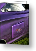 1970 Dodge Super Bee Rear Quarter Panel Greeting Cards - 1970 Dodge Coronet RT - Plum Crazy Purple Greeting Card by Gordon Dean II