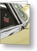 1970 Greeting Cards - 1970 Jaguar XK Type-E Emblem Greeting Card by Jill Reger