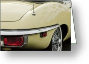 Jaguar E Type Greeting Cards - 1970 Jaguar XK Type-E Taillight 2 Greeting Card by Jill Reger