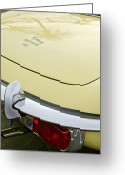 1970 Greeting Cards - 1970 Jaguar XK Type-E Taillight Greeting Card by Jill Reger