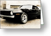 Motography Photo Greeting Cards - 1970 Plymouth Cuda Greeting Card by Phil
