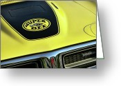 Super Bee Greeting Cards - 1971 Dodge Charger Super Bee Greeting Card by Gordon Dean II