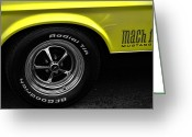 Ford Engine Greeting Cards - 1971 Ford Mustang Mach 1 Greeting Card by Gordon Dean II