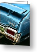 Ram Air Greeting Cards - 1971 Olds 442 W-30 Greeting Card by Gordon Dean II