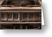 Transit Greeting Cards - 1971 Plymouth Cuda 440 Greeting Card by Gordon Dean II