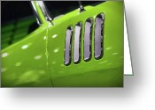 Barracuda Greeting Cards - 1971 Plymouth Cuda Fender Gills Greeting Card by Gordon Dean II