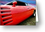 Super Bee Greeting Cards - 1972 Dodge Charger Magnum 400 Greeting Card by Gordon Dean II
