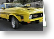 Street Rods Greeting Cards - 1972 Ford Mustang Mach 1 Greeting Card by Richard Rizzo
