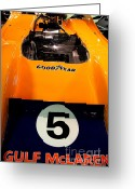 British Cars Greeting Cards - 1972 McLaren M20 Can-Am Race Car Greeting Card by Wingsdomain Art and Photography