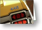 Detroit Photography Greeting Cards - 1972 Oldsmobile Cutlass 4-4-2 Greeting Card by Gordon Dean II