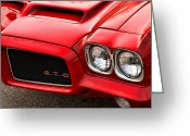 Ram Air Greeting Cards - 1972 Pontiac GTO Greeting Card by Gordon Dean II