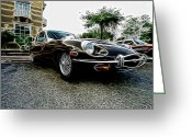 Jaguar E Type Greeting Cards - 1973 Jaguar Type E fantasy  Greeting Card by Paul Ward