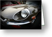 Jaguar E Type Greeting Cards - 1973 Jaguar Type E front Greeting Card by Paul Ward