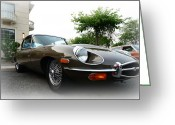 Jaguar E Type Greeting Cards - 1973 Jaguar Type E Greeting Card by Paul Ward