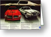 Ram Air Greeting Cards - 1973 Pontiac Firebird Trans Am  Greeting Card by Digital Repro Depot