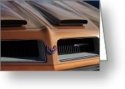 Firebird Greeting Cards - 1974 Pontiac Firebird Grille Emblem Greeting Card by Jill Reger