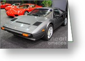 1984 Greeting Cards - 1984 Ferrari 308 GTS QV . 7D9372 Greeting Card by Wingsdomain Art and Photography