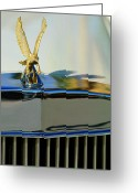 Mascots Greeting Cards - 1986 Zimmer Golden Spirit Hood Ornament 2 Greeting Card by Jill Reger
