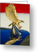 Car Mascot Greeting Cards - 1986 Zimmer Golden Spirit Hood Ornament Greeting Card by Jill Reger