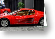 Transportation Greeting Cards - 1987 Ferrari Testarossa . 7D9399 Greeting Card by Wingsdomain Art and Photography