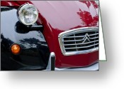 Twitter Greeting Cards - 1988 Citroen 2CV Charleston Grille Greeting Card by Jill Reger