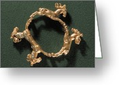 Gold Bracelet Greeting Cards - 1st Century Gold Sarmatian Bracelet Greeting Card by Ria Novosti