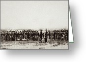 Mathew Greeting Cards - 1st U.s. Colored Infantry Greeting Card by Granger