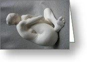 Artist Sculpture Greeting Cards - 13 Rings Greeting Card by Robert Buono