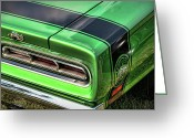 Sick Greeting Cards - 1969 Dodge Coronet Super Bee Greeting Card by Gordon Dean II