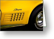 Mascots Greeting Cards - 1971 Chevrolet Corvette Stingray Greeting Card by David Patterson