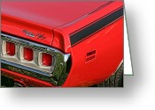 Runner Greeting Cards - 1971 Dodge Charger RT Greeting Card by Gordon Dean II