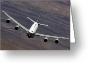 Rivet Greeting Cards - A U.s. Air Force Rc-135 Rivet Joint Greeting Card by Stocktrek Images