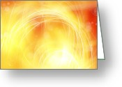 Vibrant Photo Greeting Cards - Abstract background Greeting Card by Les Cunliffe