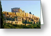 Parthenon Greeting Cards - Acropolis Greeting Card by Ellen Henneke