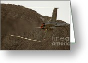 Afterburner Greeting Cards - Afterburner Greeting Card by Angel  Tarantella